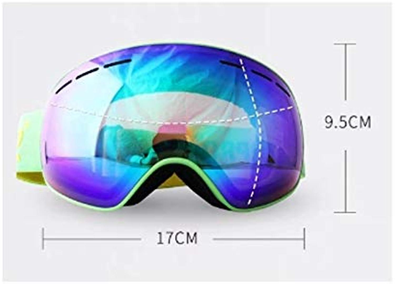 IUYWL Skibrille Doppel Anti-Fog groe kugelfrmige Oberflche kann Brille Brille Schneebrille Ausrüstung tragen Skibrille (Farbe   D)