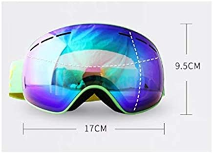 IUYWL Ski Goggles Double Antifog Large Spherical Surface Can Wear Glasses Glasses Climbing Goggles Snow Equipment Ski goggles (color   D)