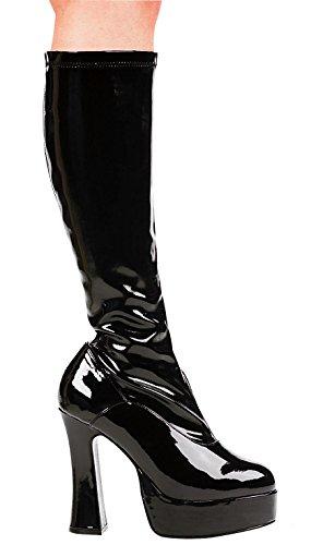 Ellie - Kostümschuhe für Erwachsene in Schwarzer Lack, Größe 38 EU