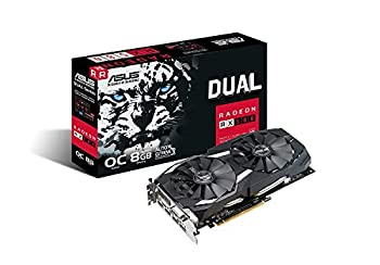ASUS Radeon RX 580 8GB Dual-Fan OC Edition GDDR5 DP HDMI DVI VR Ready AMD Graphics Card  DUAL-RX580-O8G