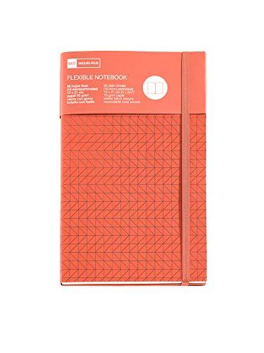 Miquelrius – Cuaderno flexible book 130 x 210 mm 96 hojas lisas orange grabado nordic