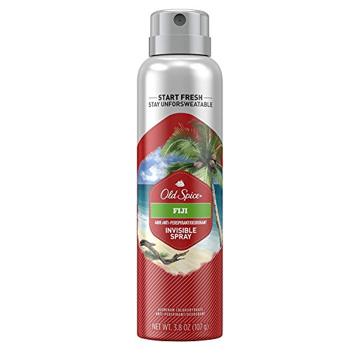 Old Spice Invisible Spray Anti-Perspirant and Deodorant, Fiji, 3.8 oz (Pack of 2)
