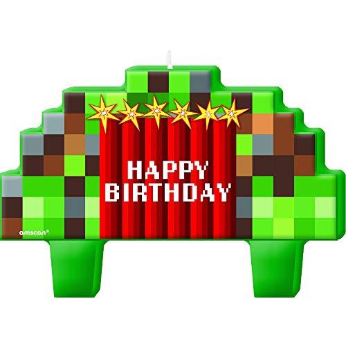 ヴィアライト(VIARITE) マインクラフト風 バースデーキャンドル お誕生日キャンドルセット 4個セット