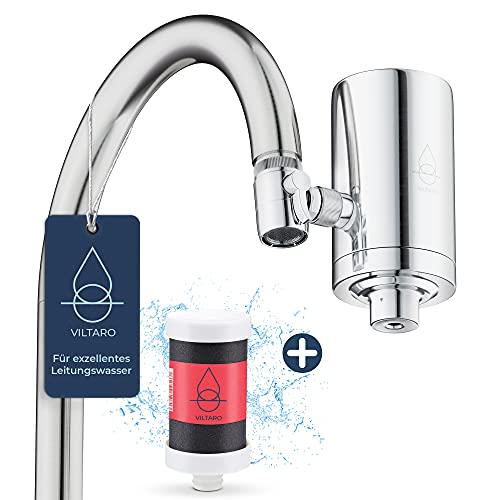 VILTARO® Wasserfilter für Wasserhahn | Edelstahl | Leitungswasser filtern | Filter für Armatur |...