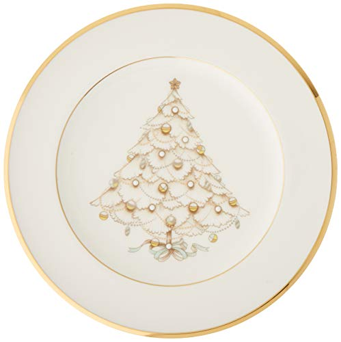 Noritake Palace Christmas Gold Holiday Accent Plates, Set of 4