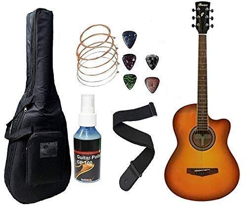 Ibanez Acoustic Guitar MD39C Right Handed Cutaway Guitar - Sunburst With Bag, Belt, Plectrums Complete Pack.