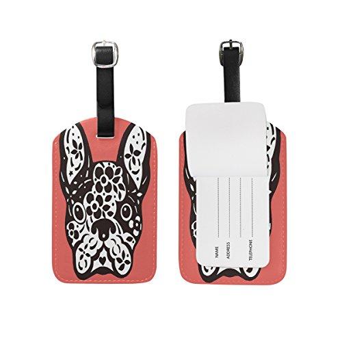Use4 French Bulldog Sugar Skull Luggage Tags Travel Bag Tag Suitcase 1 Piece
