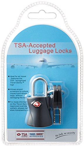 [シフレ] 南京錠 TSAロック 鍵 スーツケース シリンダー錠 siffler 5.5 cm ブラック