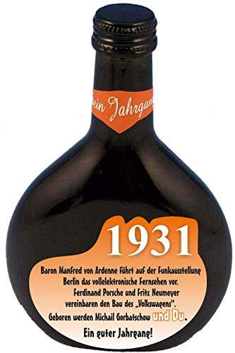QUATSCHmanufaktur Bocksbeutel zum 90. Geburtstag (für Jahrgang 1931) Rotwein 0,25 l