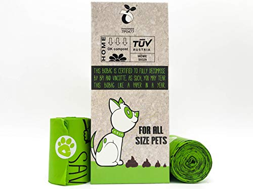 ZPAW Compostable and Biodegradable Dog Poop Bags Made with Corn Starch | Large Environmentally Friendly Dog Waste Bags Certified 100% Compostable and Biodegradable (160 Pet Waste Bags) 6