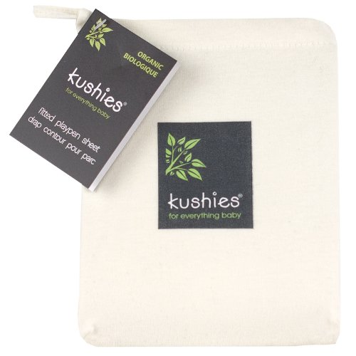 Find Bargain Kushies Organic Jersey Play Pen Fitted Sheet, Off-White