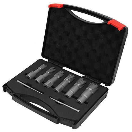 Weldon Schaft-Winkelschneider-Set, 35 mm Tiefe, 16/18/20/22/24/26 mm, für magnetische Bohrer, mit Box