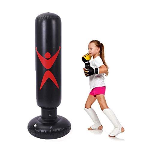 FYJK Saco De Boxeo Hinchable para Niños Adulto Saco De Boxeo para Hombre Y Mujer Saco De Boxeo De Pie para Un Rebote Inmediato para Practicar Karate, Taekwondo Y Aliviar Pent Up Energy En Niños