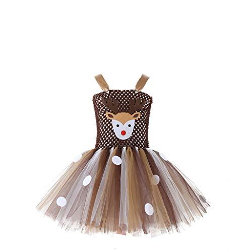 BBSMLIN Disfraz Bebe Niñas Chica Navidad Conjunto Formal Dibujos Animados Tul Princesa Vestido Trajes para 1 a 11 años