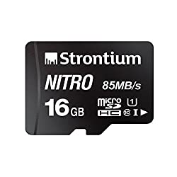 Strontium Nitro 16GB Micro SDHC Memory Card 85MB/s UHS-I U1 Class 10 High Speed for Smartphones Tablets Drones Action Cams