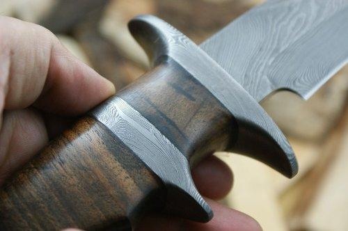 Custom Damast Bowie Messer Jagdmesser Mit Lederscheide - 4