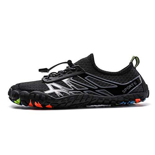 Schwimmschuhe Barefoot Five Finger Schuhe Sommer Wasserschuhe für Herren Outdoor schnell trocknend leicht Strand Schwimmen Aqua Schuhe Sandalen B_8