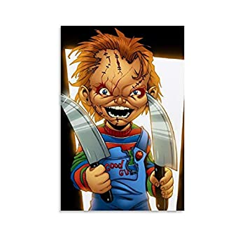 ZHIYONG Horror Movies Poster Child s Play Dope Chucky Canvas Art Poster and Wall Art Picture Print Modern Family Bedroom Decor Posters 08x12inch 20x30cm