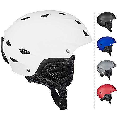 ILM Ski Helmet Snowboard Snow Sports Sled Skate Outdoor Recreation Gear for Men Women (White, L)