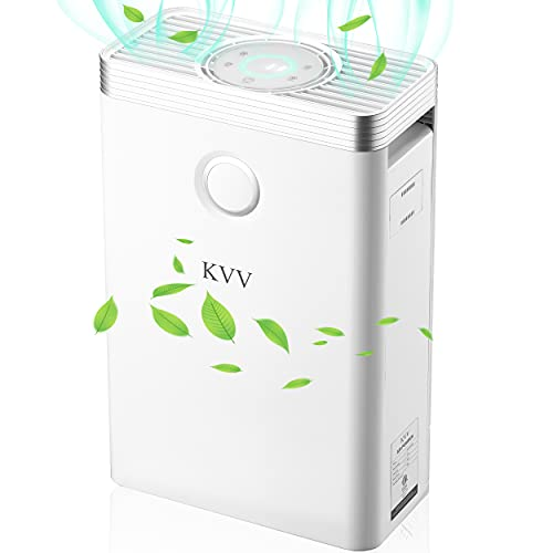 KVV Air Purifier with True HEPA Air Filter, Air Purifier for Bedroom, for Spaces Up to 800 Sq Ft, Perfect for Home/Office with Composite Filter
