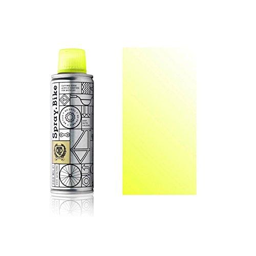 Fahrrad Lackspray Pocket Clear - halb-transparenter Farblack mit Klarlack Optik für eine Glanz-Lasur, Überblendung oder Schattierung - praktische 200ml Spraydose (Neon Gelb