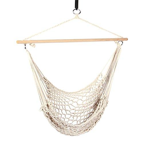 laamei Charms Hängematte Stuhl mit Quertraverse atmungsaktiv Belastung für Ausflug Outdoor Garten Schlafzimmer (200x 80cm)