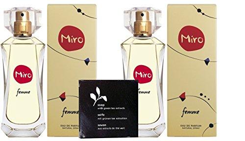 2 x MIRO FEMME Eau de Parfum Spray 50 ml (100 ml)