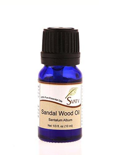 SVATV essentielle 10 ml (1/3 oz) 100% pure, non diluée, de qualité thérapeutique (SANDALWOOD)