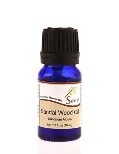 SVATV Sándalo (Álbum Santalum) Aceite esencial de 10 ml de grado ter
