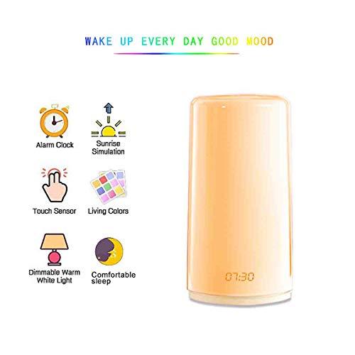 JiAWEI LED nachtlampje bureaulamp Touch USB 6 soorten natuurlijke beltonen, omzetting in alle kleuren RGB met klok - 3 Watt