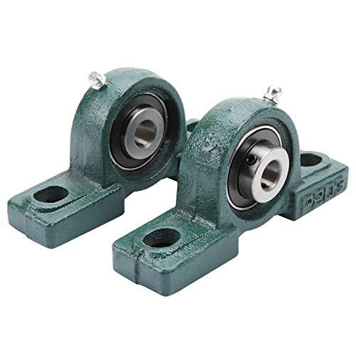 2 pezzi UCP204 Cuscinetto a Cuscinetto a Sfera da 20 mm Diametro Foro Montato Cuscinetto di Supporto con Montaggio a Due Bulloni