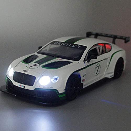 Decoración para el hogar 1:32 Modelo de coche estático Decoración de coche de carreras Producto de ajuste Simulación Aleación de coche Modelo de coche de retroceso Luz intermitente y así (coche int
