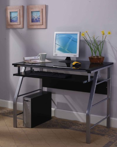 King's Brand Glass and Metal Home Office...