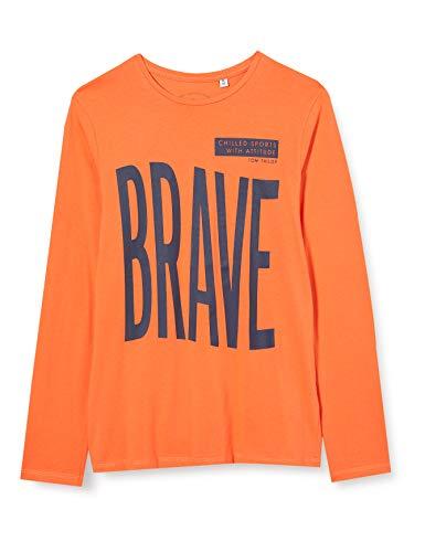 TOM TAILOR Jungen Langarmshirt T-Shirt, Tigerlily|orange, 140