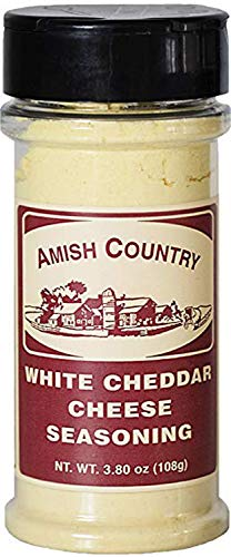 Amish Country Popcorn | White Cheddar Cheese - 3.8 oz Popcorn Seasoning | Old Fashioned with Recipe Guide