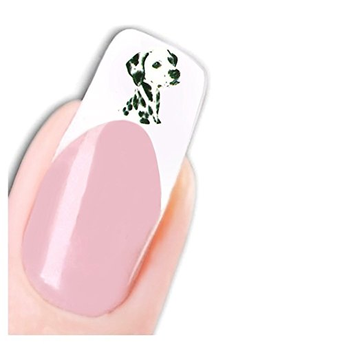 Just Fox Pied – Tattoo Stickers chien Dog Dalmatien pour ongles Nail art ongles autocollants