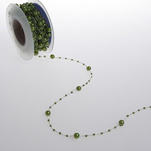 Deko und Band Perle Vert Ficelle – 5 mm Rouleau de 10 m – 97651 60 (1,83 €/m)