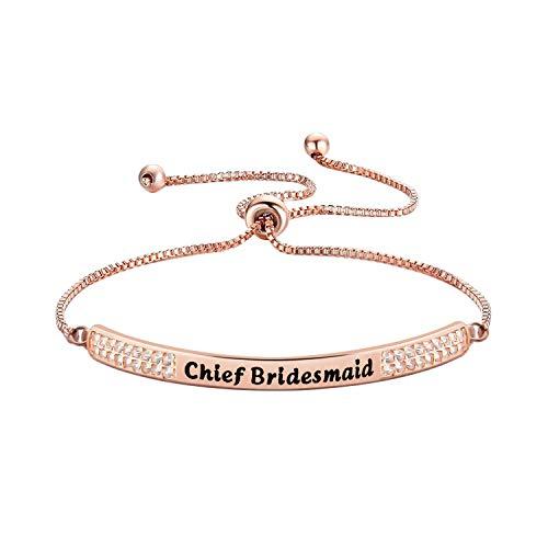 Zuo Bao Wedding Gift Junior Bridesmaid Bracelet Adjustable Link Bracelet Gift for Junior Bridesmaids Flower Girl