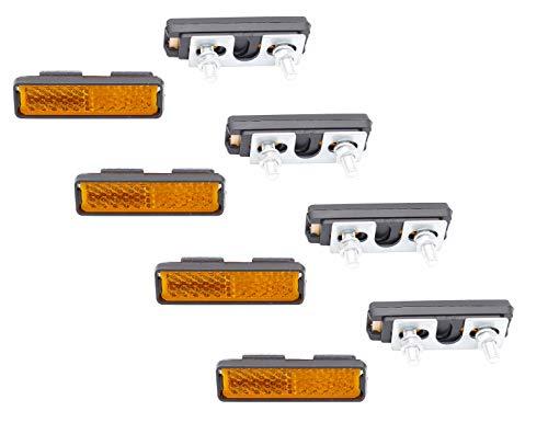 P4B | Reflektoren für Fahrrad Pedale | Pedal Reflektor (C) 8X Reflektoren zum Festschrauben