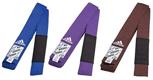 adidas Belt Brazilian Martial Arts Blue Purple Brown A1 Cotton BJJ-Cinturón brasileño Jiu Jitsu Artes Marciales Azul púrpura marrón A2 A3 100% algodón
