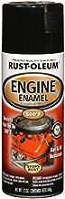 Rust-Oleum 248932 Engine Enamel, 12 oz, Spray Automotive Accessories, 12-Ounce, Black Gloss