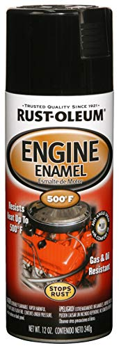 Rust-Oleum 248932, Gloss Black, 12 oz, Automotive Engine Enamel Spray Paint