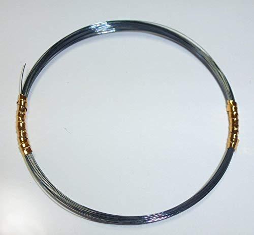 Awas Titanvorfach 1x1 schwarz 5m Made in USA Titanvorfächer, Hechtvorfach, Zandervorfach, Barschvorfach (0.35 mm, 30 lb / 12 kg)