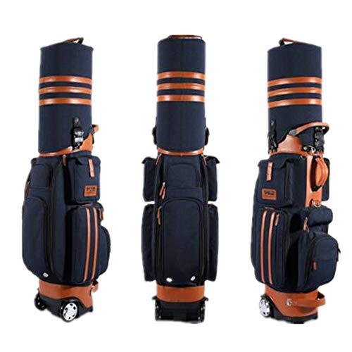 Jtoony Golf-Reisetasche mit Rollen Golftasche Hard Shell Mit Schleppern mit Passwort Air Bags Golfbags (Color : E, Size : Free Size)