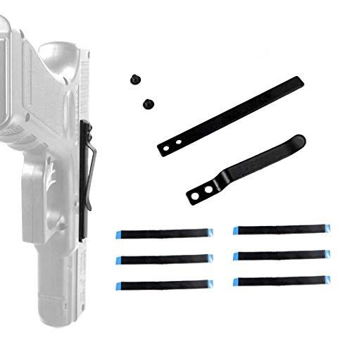 DMAIP Universal Gun Clip Holster for Semi-Automatic Handguns Ambidextrous Concealed Gun Belt Clip