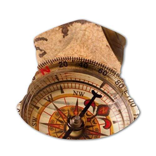 LAKILAN Mapa De Brújula Náutica Pirata Marinero Paño De Manguera,Pañuelo para La Cabeza,Multiusos De Bandana,Polaina para Cuello,Calentador De Cuello De Invierno