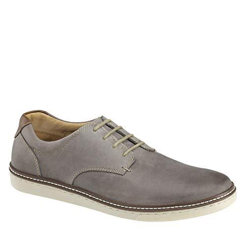 Johnston & Murphy McGuffey Herren-Schuhe, einfarbig, Grau (Grau geöltes Leder.), 39.5 EU