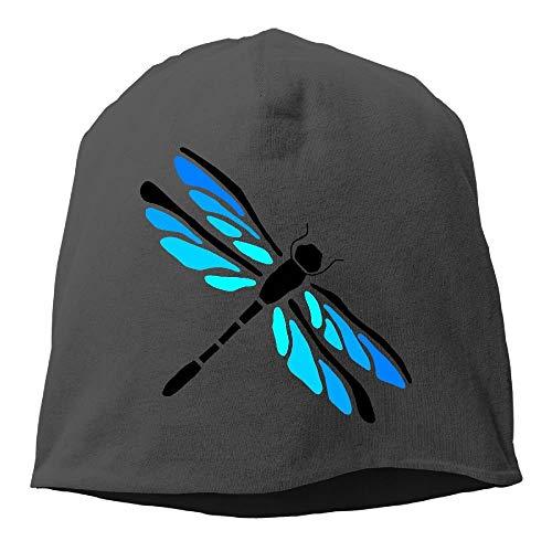 wwoman Libellen-Beanie-Mütze, Totenkopf-Mütze, Unisex, weiche Baumwolle, warm, Einheitsgröße (Einheitsgröße)