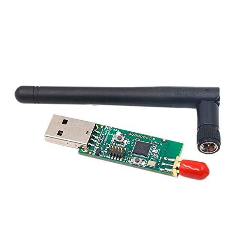 JCMY Módulo de relevo Inalámbrico CC2531 Sniffer Board Packet Protocol Analyzer Módulo USB Interfaz Dongle Captura Módulo con Antena Kit de componentes electrónicos (Color : Green)