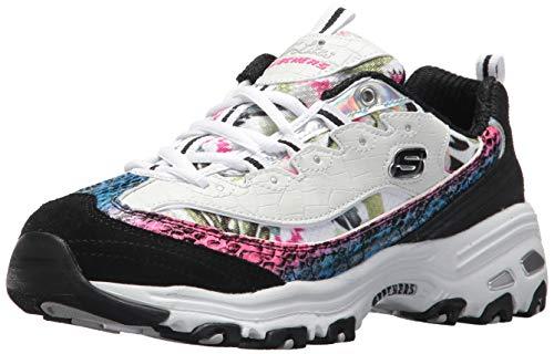 Skechers Women's D'Lites Runaway Ready Sneaker, WhiteBlackMulti, 6.5 M US